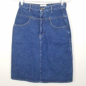 Calvin Klein Vintage High Waisted Jean Skirt 28